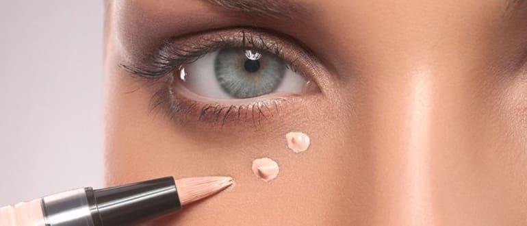 Чем замазать синяки под глазами