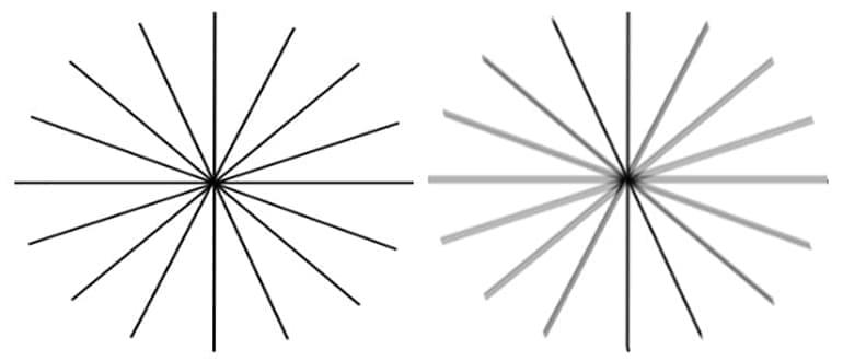 тест на астигматизм