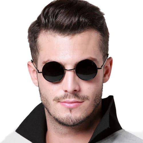 Круглые очки с разными формами лица